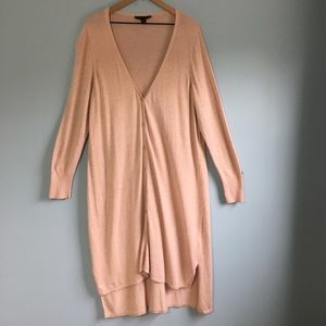 H by Halston blush pink duster cardigan 2X